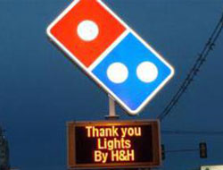 Dominos EMB Sign