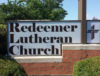 New vinyl sign face installed at Redeemer Church