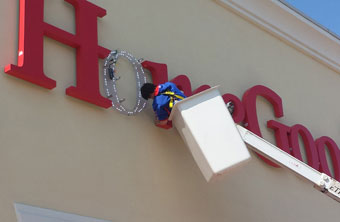 Repairing a LED sign for Home Goods